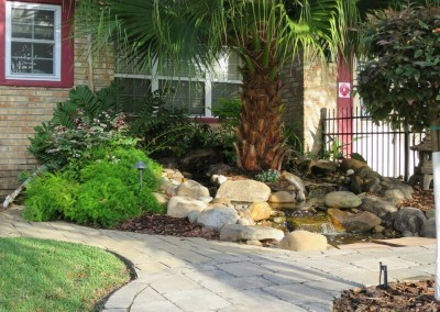 Pondless w pavers