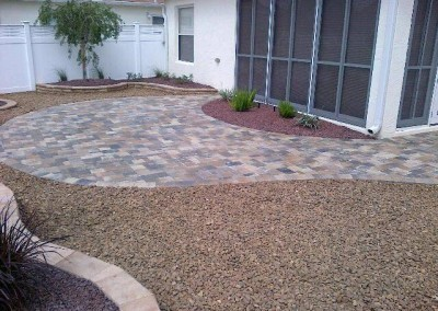 Villa w-pavers & rock (2)